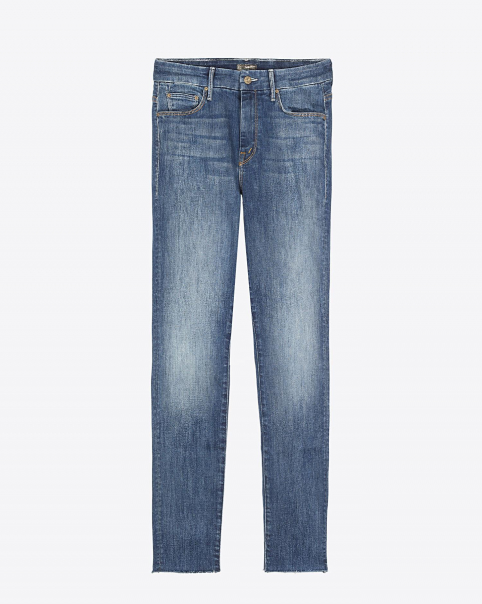 Mother Denim High Waisted Looker Ankle Fray - Not Rough Enough E20