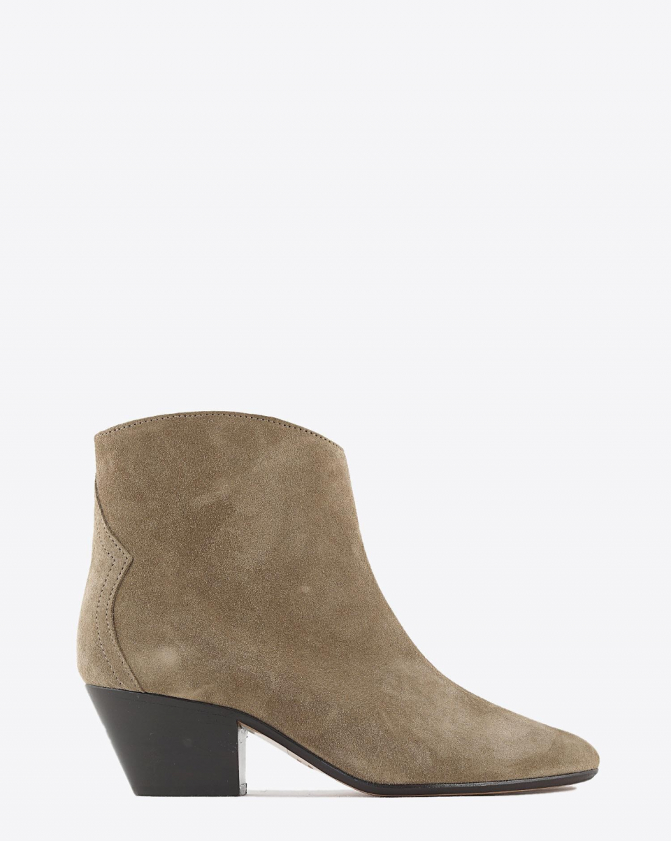 Isabel Marant Chaussures Boots DACKEN - Velvet Taupe H20
