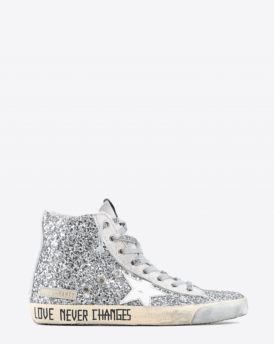 Golden Goose Woman Sneakers Francy - Silver Ice 70160