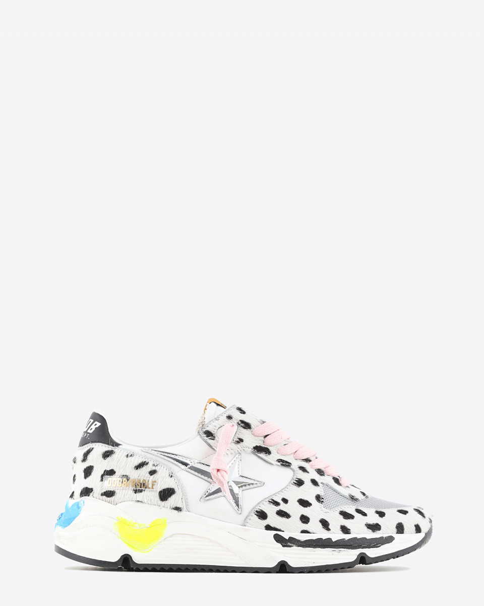 Golden Goose Woman Collection Sneakers Running Sole Star Pois Horsy