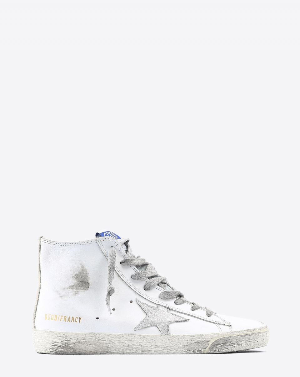 Golden Goose Woman Collection Sneakers Francy - White Silver Leather 10274