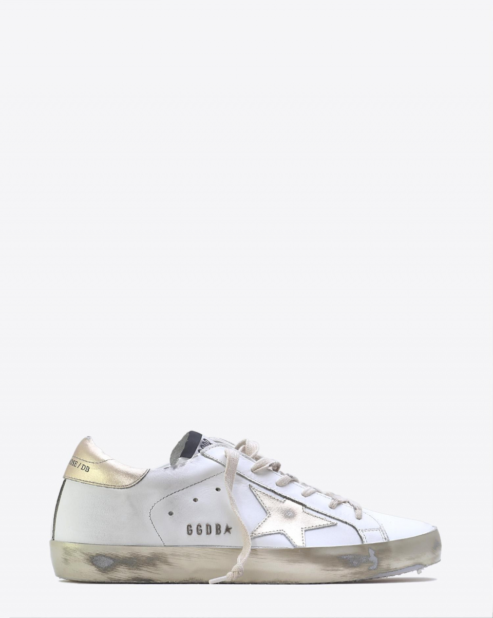 Golden Goose Woman Permanent Sneakers Superstar - White - Gold Star Sparkle