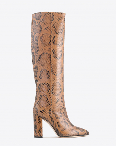 Paris Texas Pré-Collection Bottes Imprimé Serpent - Cognac