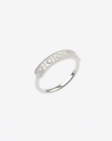 De Jaegher Bague Happiness Argent & Diamants blancs