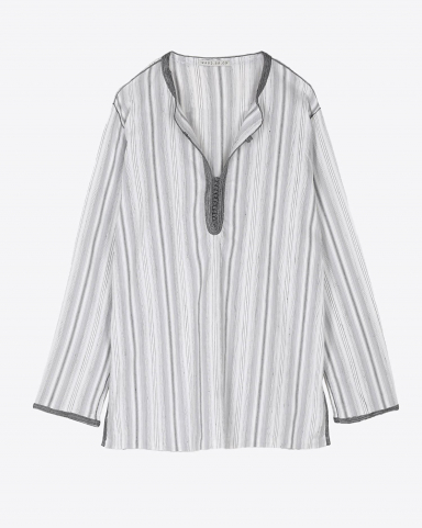 Hand.So.On Chemise ARTHUR - Coton Gris Strech