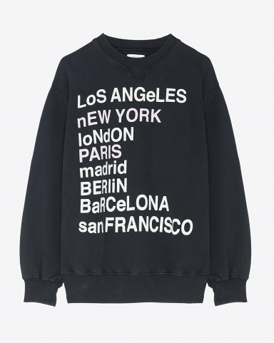 Anine Bing Permanent City Love Sweatshirt - Charcoal