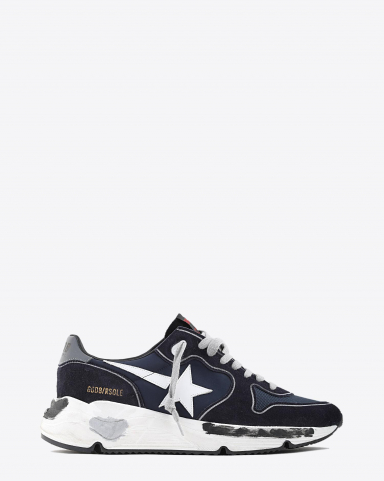 Golden Goose Men Running Sole - Navy Deep Blue - Silver 50522