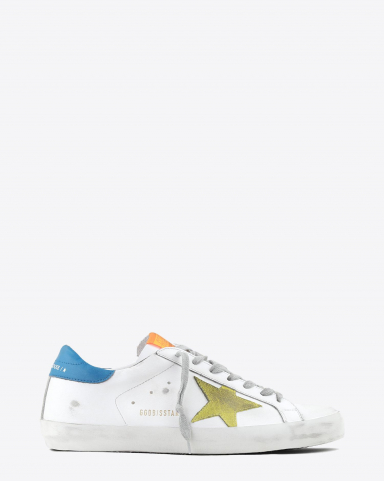 Golden Goose Men Sneakers Superstar - White Leather - Yellow Suede Star
