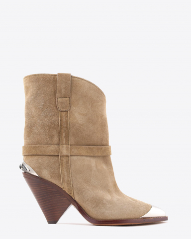 Isabel Marant Chaussures Boots LAMSY - Suede Beige