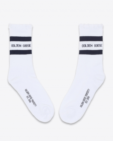 Golden Goose Accessoires Collection Socks Ripped - Old White Navy 81236