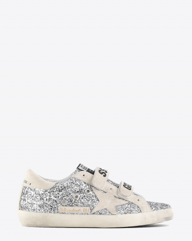 Golden Goose Woman Collection Sneakers Old School - Silver Pearl 70188