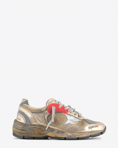 Golden Goose Woman Collection Sneakers Running Dad - White Gold 65120