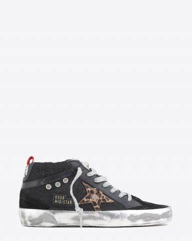 Golden Goose Woman Collection Mid Star - Black Brown Leo 90217