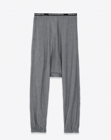 R13 Denim Collection FUUF Lounge Pant - Charcoal
