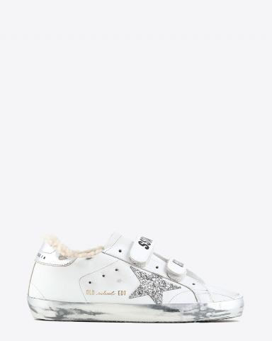 Golden Goose Woman Collection Old School Glitter Star Shearling
