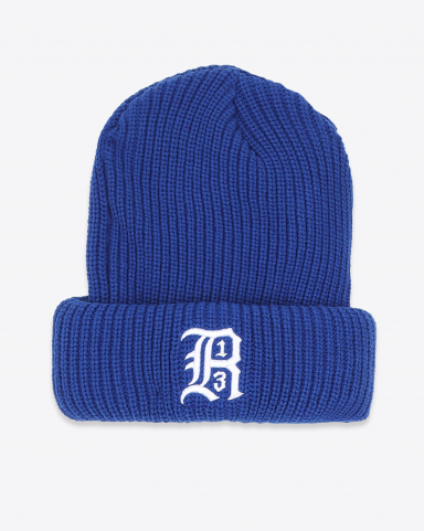 R13 Denim Collection Beanie W/Embroidery - Blue