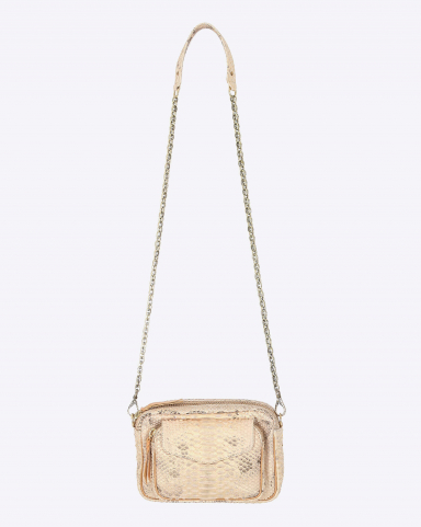 Claris Virot Charly Python Champagne - Chaine Or