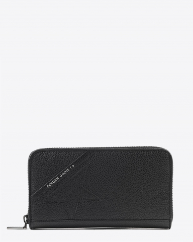 Golden Goose Accessoires Pré-Collection Star Large Zipped - Black 90100