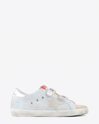 Golden Goose Woman Collection Old School - Powder Blue Cappuccino 80815