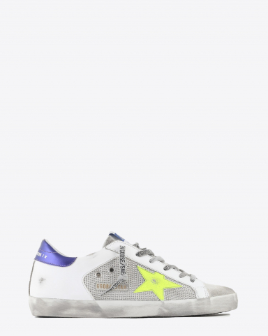 Golden Goose Woman Collection Super-Star - Light Silver Yellow Fluo Purple 80914
