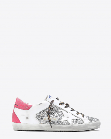 Golden Goose Woman Collection Super-Star - Silver White Pink Fluo 70158