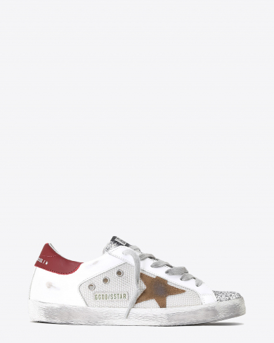 Golden Goose Woman Pré-Collection Sneakers Super-Star - Silver Tobacco Red 80188