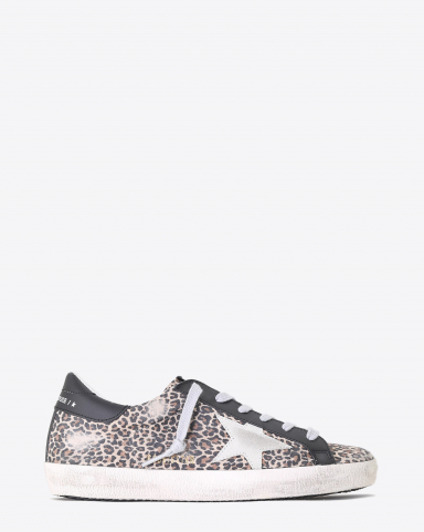 Golden Goose Woman Pré-Collection Sneakers Superstar cuir imprimé léopard 80189