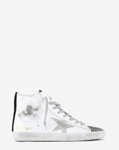 Golden Goose Woman Pré-Collection Francy - White Leather Leopard Suede - Brown Leo 10258