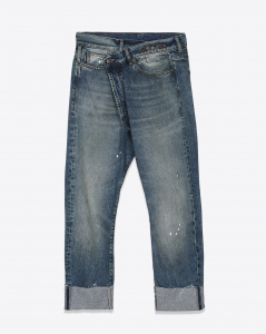 R13 Denim Permanent Crossover Jean - Jasper