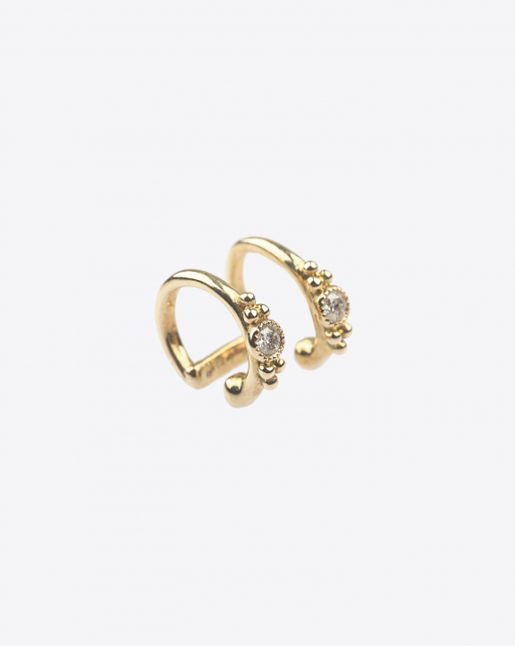 De Jaegher Earcuff Sunny Bubble - Or Jaune & Diamants - L'Unité