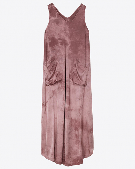 Raquel Allegra Grosgrain Maxi Dress - Dark Blush Tie Dye