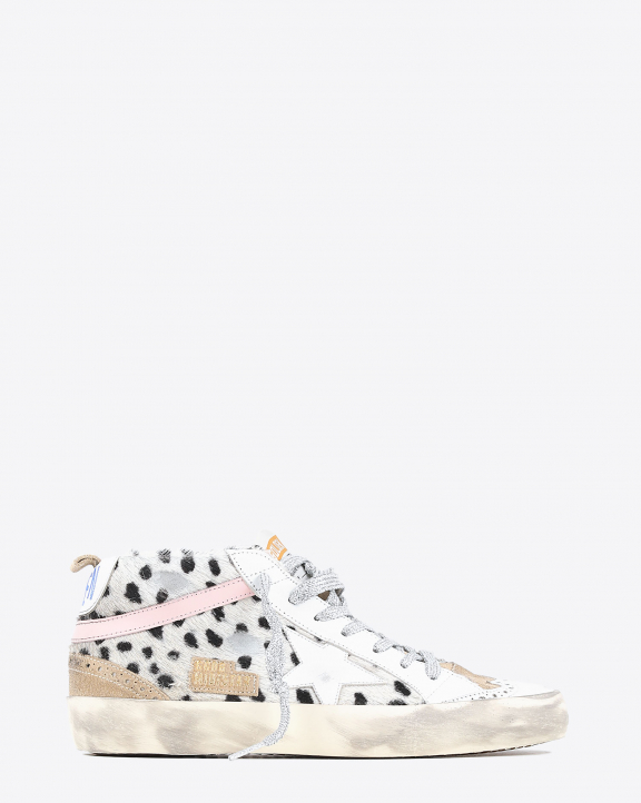 Golden Goose Woman Mid Star Sneakers - White Cappuccino Rose 15314