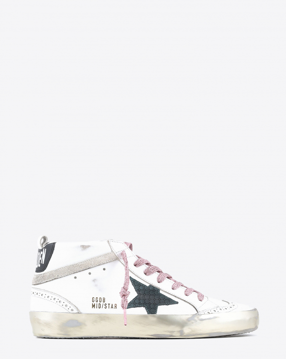 Golden Goose Woman Collection Mid Star - White Green Petrol 10739