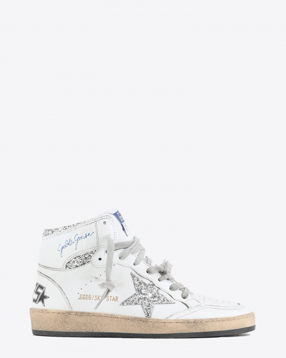 Golden Goose Woman Permanent Sneakers Sky Star - White Silver 80185