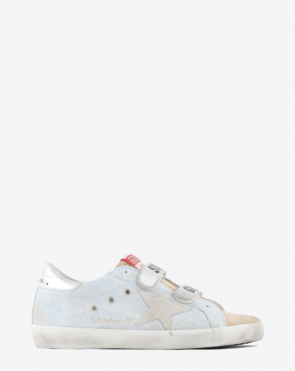 Golden Goose Woman Collection Sneakers Old School - Powder Blue Cappuccino 80815