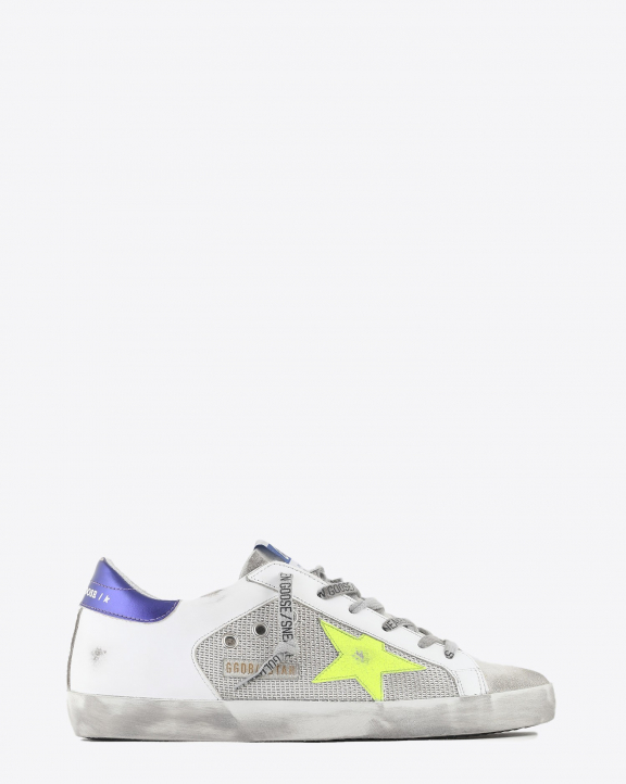 Golden Goose Woman Collection Sneakers Super-Star - Light Silver Yellow Fluo Purple 80914