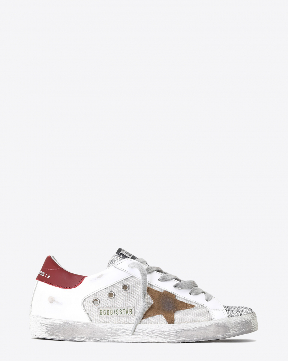 Golden Goose Woman Pré-Collection Super-Star - Silver Tobacco Red 80188