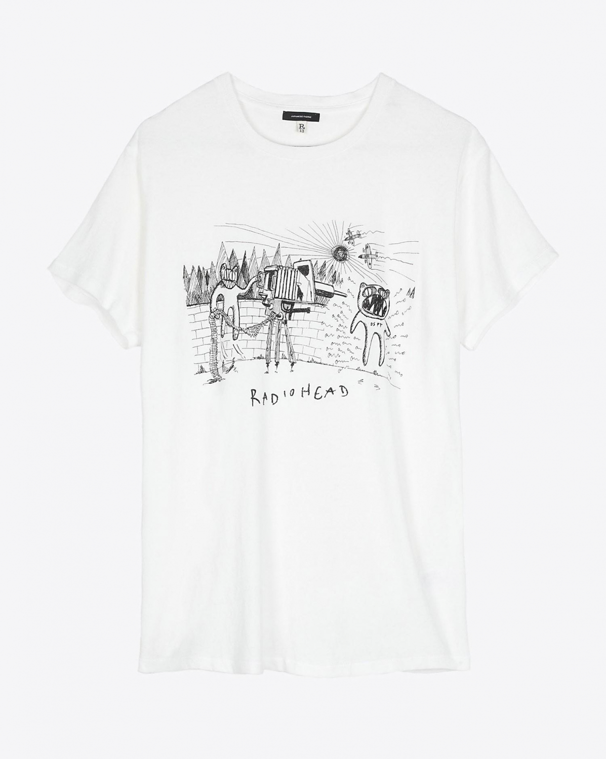 R13 Denim Collection Dspt Event Boy T - Dirty White