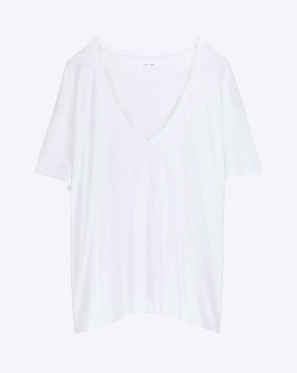 Anine Bing Permanent Deep V neck TShirt - White