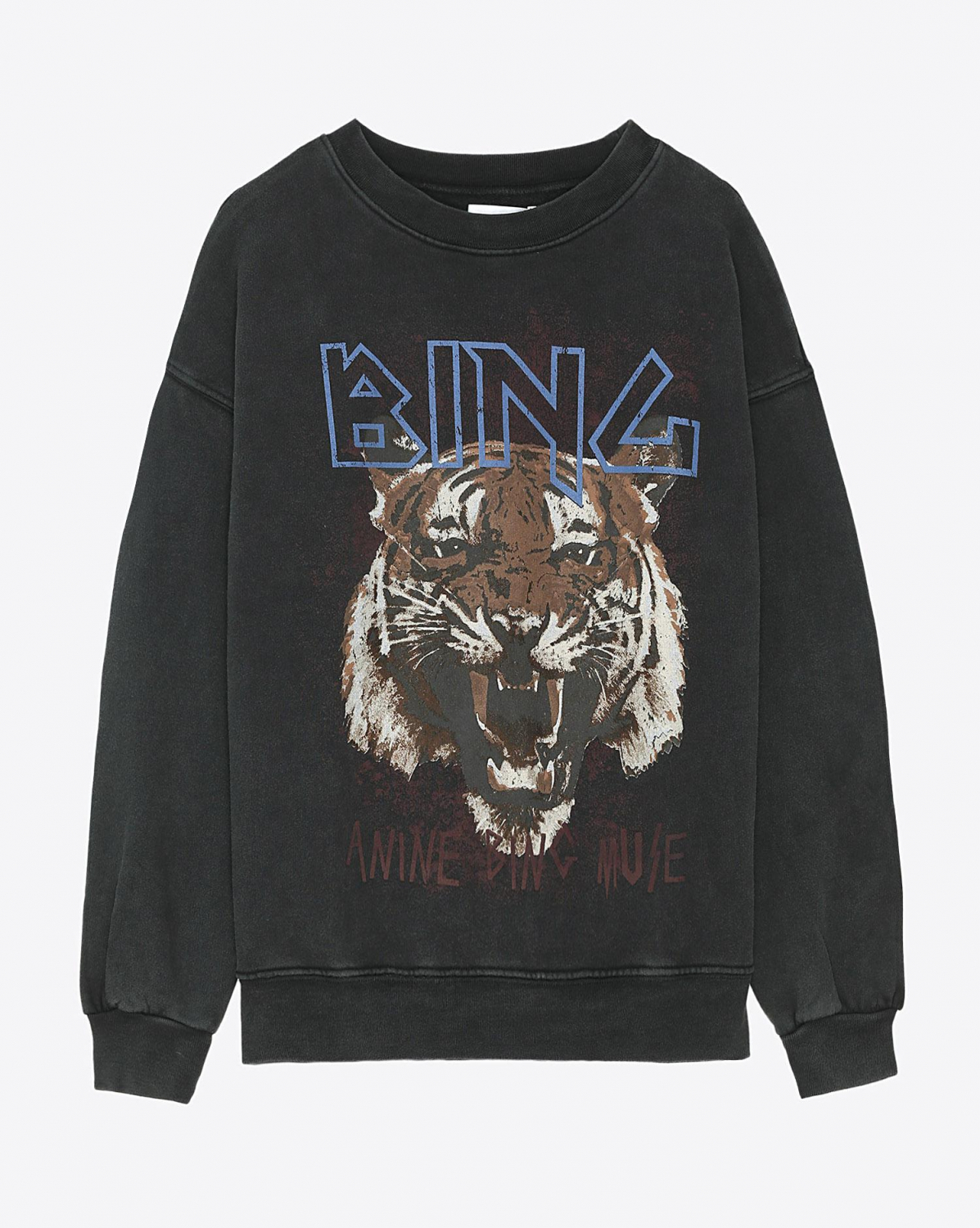 Anine Bing Permanent Tiger Sweatshirt - Black