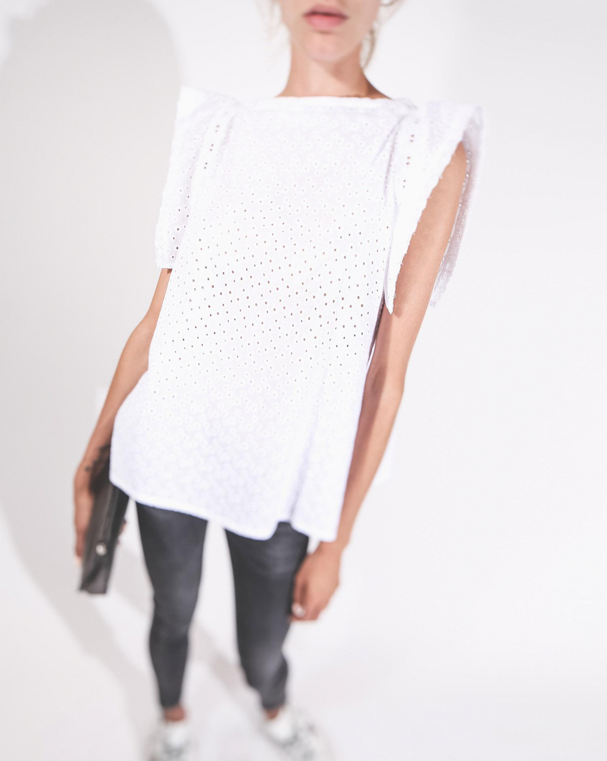 Eponym Creation Top Nola Blanc Coton