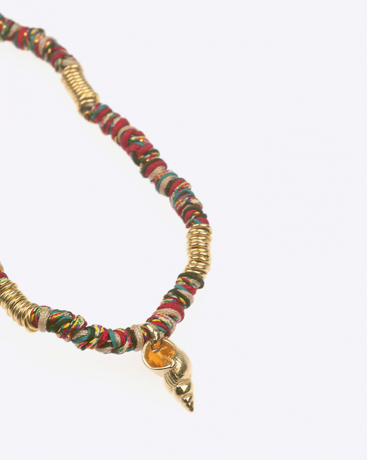 Gachon Pothier Collier Chocker Masai - Rouge