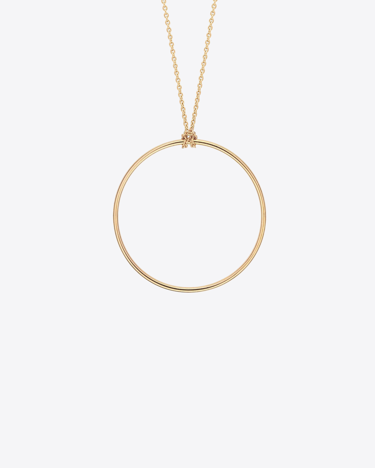 Ginette NY Baby circle on chain - Or Rose 18K