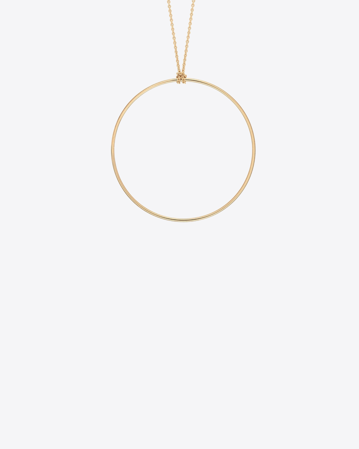 Ginette NY Circle on chain - Or Rose 18K