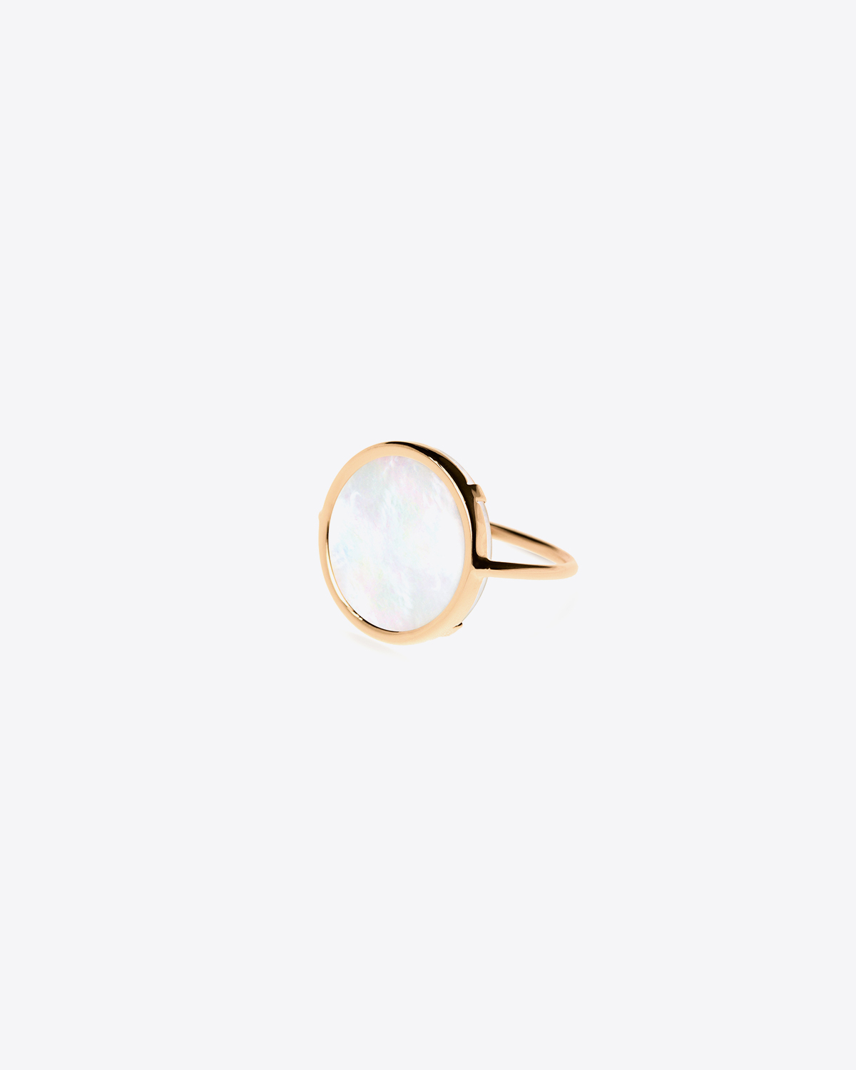 Ginette NY Disc Ring Mother of Pearl