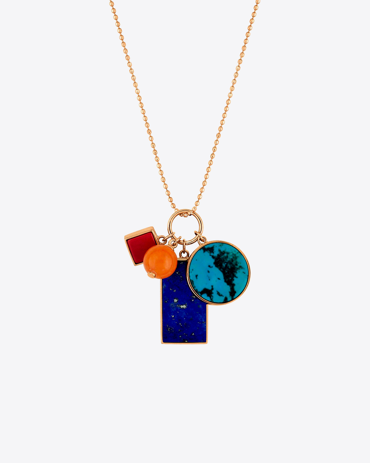 Ginette NY Ever Charm necklace - Or Rose 18K