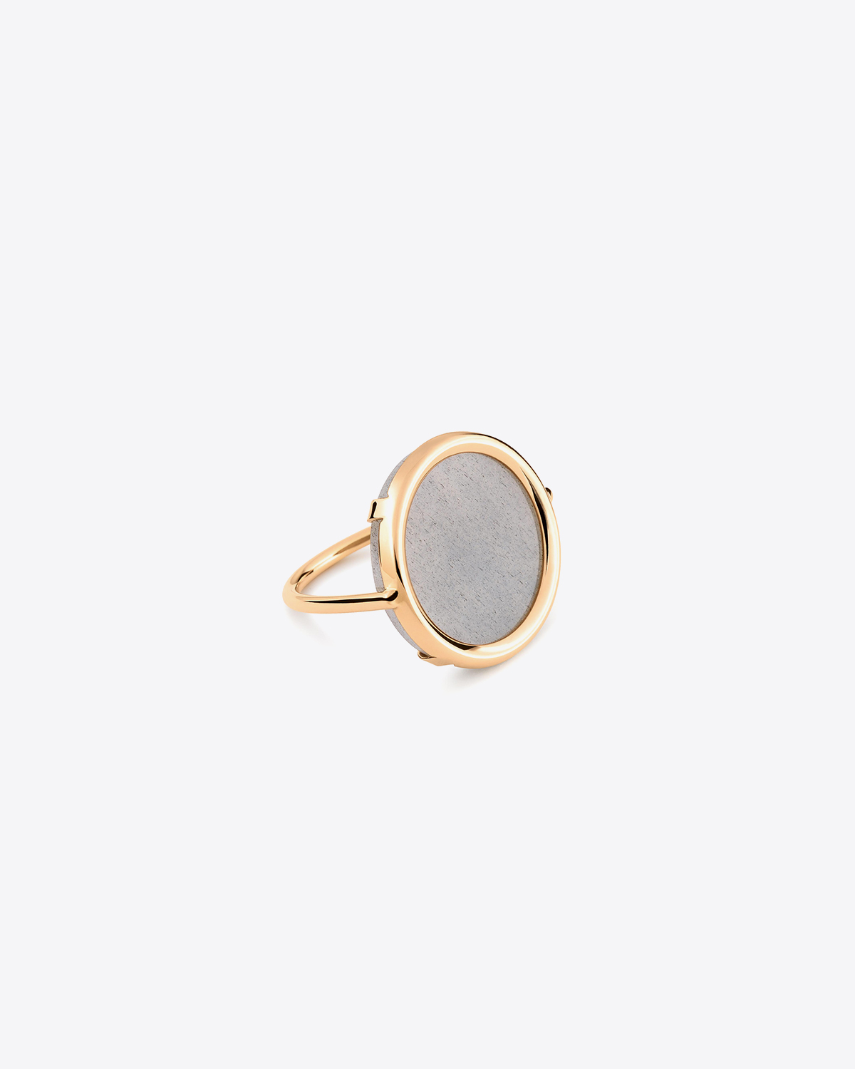 Ginette NY Ever Moonstone Disc Ring