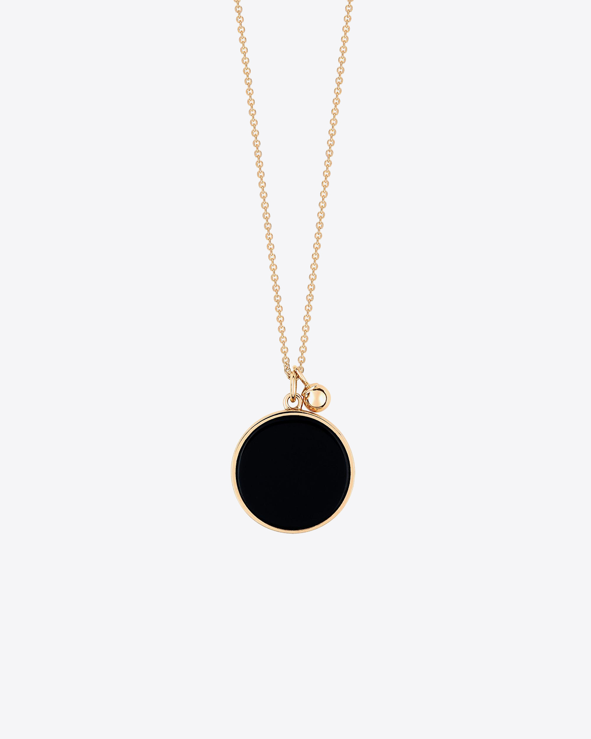 Ginette NY Ever Onyx Disc On Chain