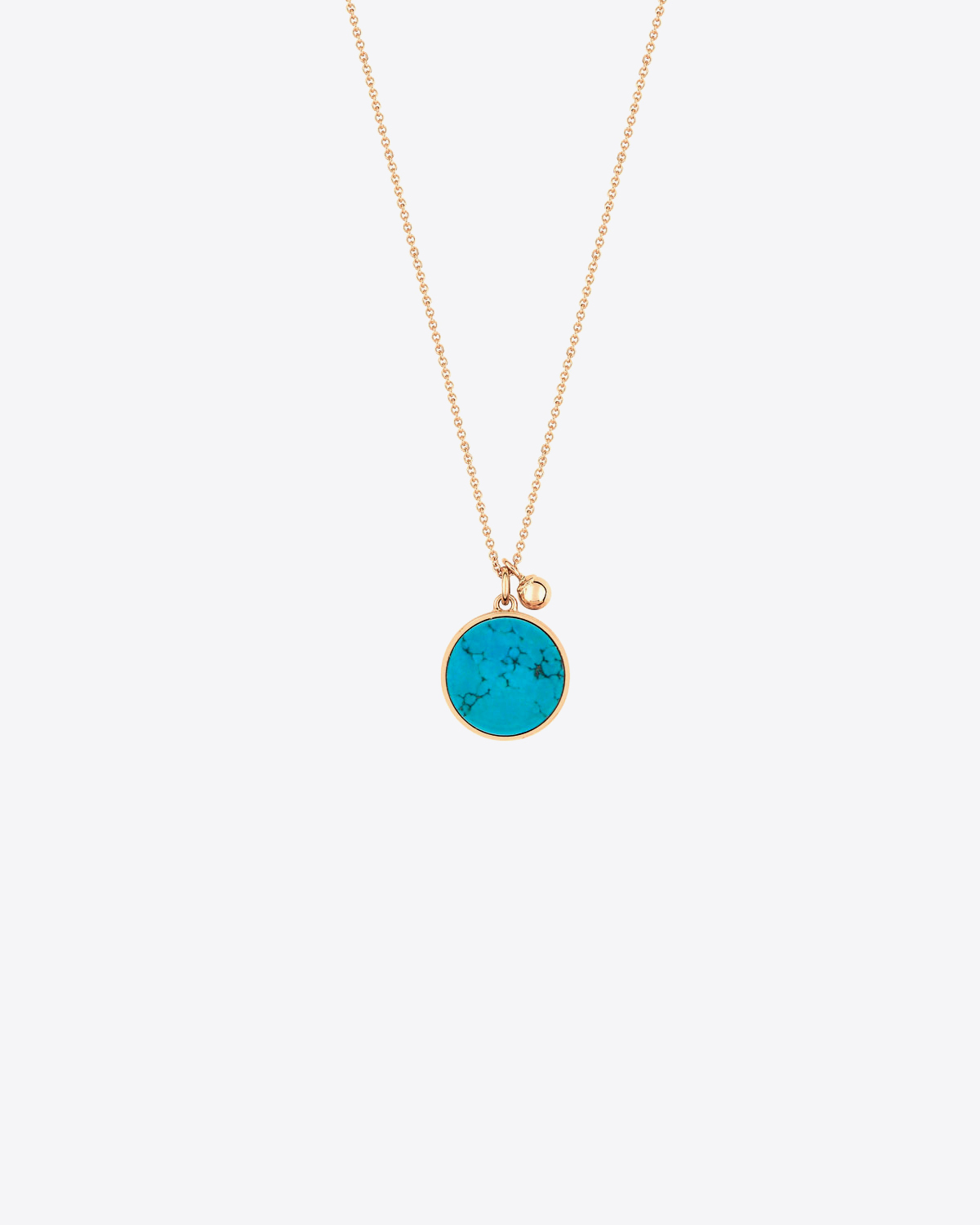 Ginette NY Ever Turquoise Disc on Chain