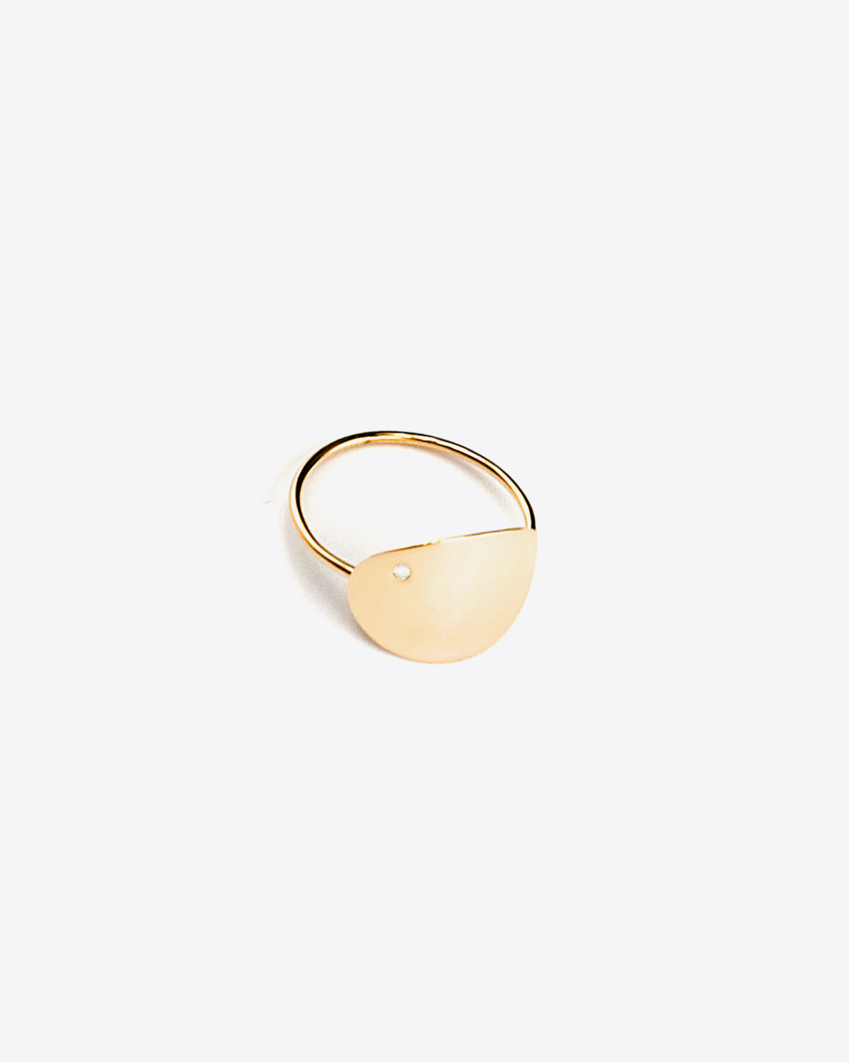 Ginette NY Large Sequin & Diam Ring